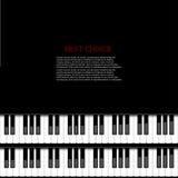 Modern pianobakgrund för vektor Arkivfoto