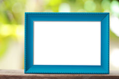 Modern Picture Frame placed on a wooden floor. Stock Images