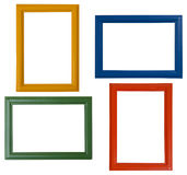 Modern picture frames. Isolated on white background royalty free stock images
