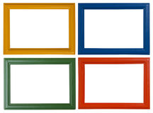 Modern picture frames. Isolated on white background royalty free stock photo