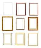 Modern picture frames. On white background stock images