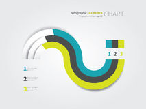 Modern pie chart with 3 options. Flat  pie chart for infographic design Stock Images