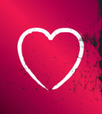 Modern pink and black grunge heart, vector Stock Photos