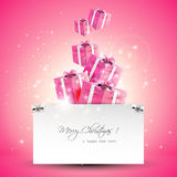 Modern pink Christmas greeting card Royalty Free Stock Photo