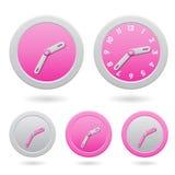 Modern Pink Clocks  on White Royalty Free Stock Photos