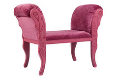 Modern pink couch Royalty Free Stock Images