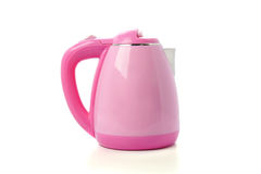 Modern pink electric kettle isolated on white background Stock Image