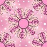 Modern pink floral seamless tiling texture Stock Photos