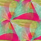 Modern pink, green seamless  watercolor artist wallpaper texture Stock Image