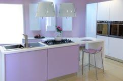 Modern pink kitchen Royalty Free Stock Image