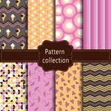 Modern pink, orange and brown pattern. stock images