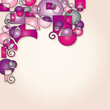 modern pink shapes background Royalty Free Stock Image