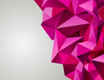 Modern pink triangular. Stock Photography