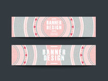 Modern pink vinyl record design for banners Stock Photography