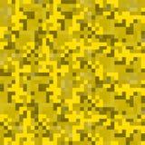 Modern pixel camouflage desert pattern Royalty Free Stock Images