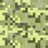 Modern pixel camouflage green pattern Royalty Free Stock Photos