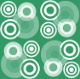 Modern pixelated background with white concentric circle elements Royalty Free Stock Photos