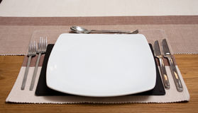 A modern place setting Stock Photo