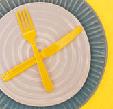 Modern Place Setting stock image