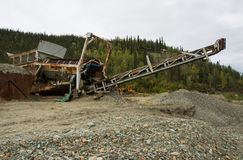 Modern Placer Mining Stock Image