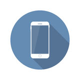 Modern plan mobil symbolsvektorillustration Royaltyfri Bild