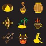 Modern plan symbolssamling med svart vektor illustrationer