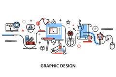 Modern plan tunn linje designvektorillustration Royaltyfri Bild