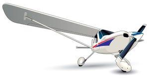 Modern Plane Stock Image