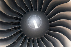 Modern plane engine turbine blades. Stock Photography