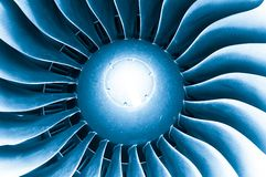 Modern plane engine turbine blades. Stock Images