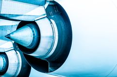 Modern plane engine turbine blades. Royalty Free Stock Images