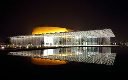 Modern planlagd Bahrain nationell teater med 1001 platser Arkivbilder