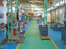 Modern planned factory floor in india. Modern well designed systematic factory section and area in India Stock Photography