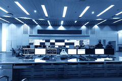 Modern plant control room Royalty Free Stock Images
