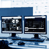 Modern plant control room Stock Image