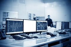 Modern plant control room Stock Photography