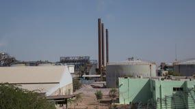 Modern plant in the desert, Jordan, Middle East.  stock photo