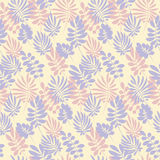 Modern plant pattern. Pale color tropical leaves seamless Royalty Free Stock Photos
