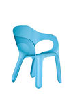 Modern plastic chair. Isolated on white background Royalty Free Stock Photo