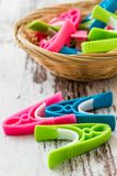 Modern Plastic Clothes Pin Stock Photography