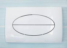 Modern plastic flushing buttons Royalty Free Stock Photo