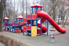 Modern plastic playground Stock Photo
