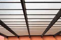 Modern plastic roof structure. At the house stock photography