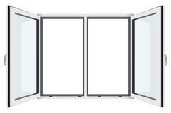 Modern plastic venster Royalty-vrije Stock Afbeeldingen