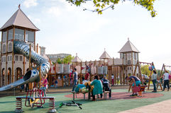 Modern playground. In the izvor park from bucharest romania Royalty Free Stock Image