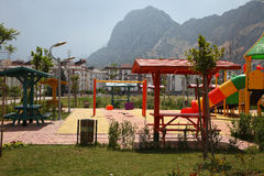 Modern playground in a residential area Stock Photography