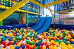 Modern playground in the room. Modern children playground in the room Royalty Free Stock Image