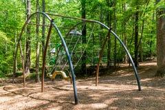 Modern Playground Swing Stock Photo