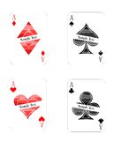 Modern playing cards aces Royalty Free Stock Photography