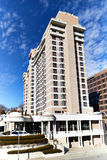 Modern Plaza Hotel in Kansas City. Modern high rise hotel located in the country club plaza Kansas City Missouri Royalty Free Stock Photos